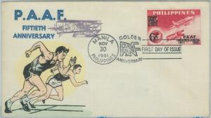 74512 - Philippines  - POSTAL HISTORY - FDC COVER  1961  PAAF Airplanes AVIATION