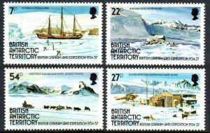 British Antarctic Territory 121-124, MNH. British-Graham Land Expedition, 1985