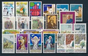 Liechtenstein 1986 Complete Year Set MNH