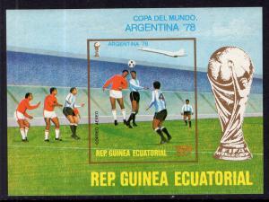 Equatorial Guinea 7771 Soccer Souvenir Sheet MNH VF