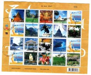 Thailand Scott 2158 Used  2004 Unseen Tourist attraction sheet