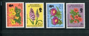Guernsey MNH 69-72 Wild Flowers