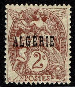 Algeria #2  MNH - 2c Violet-Brown (1924)