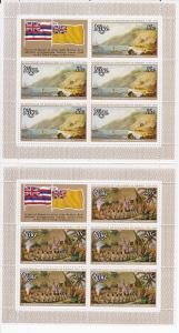 Niue # 215-218, Captain Cook Mini Sheets,  Mint NH