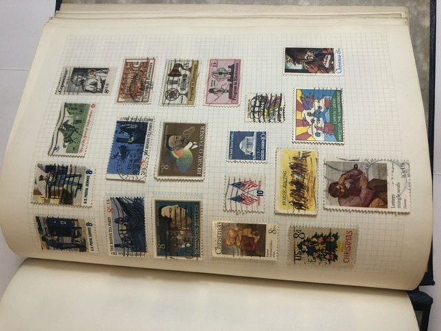 International Stamp Album Lots Of Different Countries Some Very Old Stamps