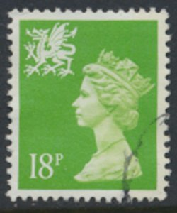 GB  Wales SG W48 18p Machin Used 1991  SC# WMMH34 see scan/details