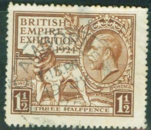 Great Britain Scott 186 British Lion and KGV 1924 CV$17.50
