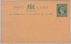 TOBAGO -  POSTAL STATIONERY CARD: Higgings & Gage # 5 DARK GREEN SHADE