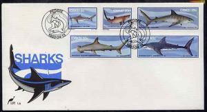 Ciskei 1983 Sharks set of 5 on unaddressed illustrated co...