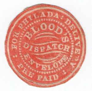 (I.B) US Local Post : Blood's Prepaid Dispatch Envelope