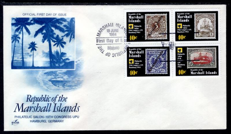 Marshall Islands 53a Stamp onn Stamp U/A FDC