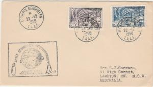 FRENCH ANTARCTIC TERRITORIES 1958 KERGUELEN GEOPHYSICAL COVER