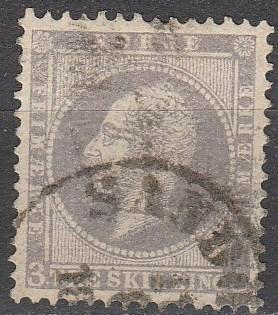 Norway #3 VF Used CV $120.00 (A16087)