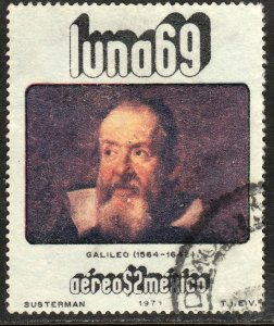 MEXICO C378, Physists and Astronomers - GALILEO GALILEI. Used. (1276)