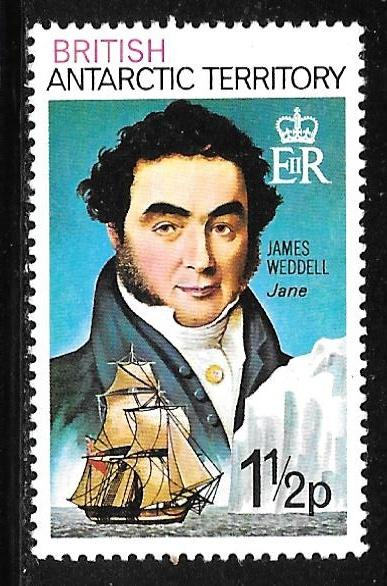 B.A.T. 47: 1.5p James Weddell (1787-1834), MH, VF