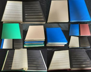 Black Page Large Stockbooks x 5 Appx 160 Sides(7kg)K27