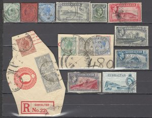 COLLECTION LOT OF # 1001 GIBRALTAR 16 STAMPS + 2 SS 1904+ CLEARANCE CV+$23