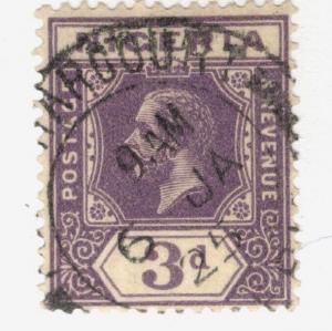 1914 Nigeria SC #25a  KGV used stamp