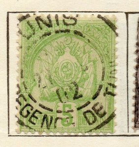 Tunis 1893 Early Issue Fine Used 5c. NW-114585
