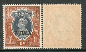 India PATIALA State 1Re KG VI Postage SG102 / Sc 115 Cat £18 MNH