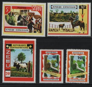 CENTRAL AFRICAN REPUBLIC, 131-134,C83, (5) SET,  HINGED, 1970 Operation Bokassa
