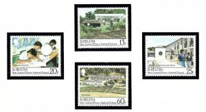 St Helena 511-14 MNH 1989 New Central (Prince Andrew) School
