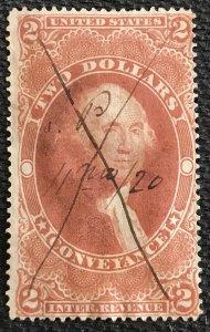 US Revenue #R81c Used Single George Washington SCV $4.00 L37