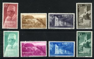 Morocco Northern Zone #1-8   Mint NH VF 1956 PD