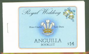 ANGUILLA Scott 444c & 446c Royal Wedding Booklet 1981 MNH **