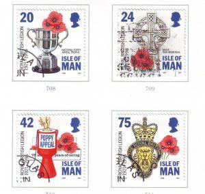 Isle of Man Sc 706-9 1996 British Legion stamp set used