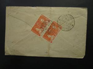 Malaya Straits Settlements 1937 Cover to S. India / Light Corner Creases - Z5826