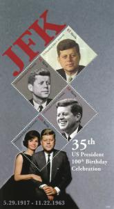 Nevis 2017 MNH JFK John F Kennedy 100th Birthday 4v M/S I US Presidents Stamps