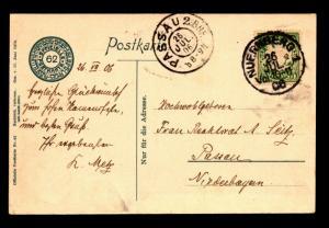 Bavaria 1906 Picture Postcard to Passau - Z14037