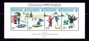 Isle of Man 439a 1990 Christmas S/S
