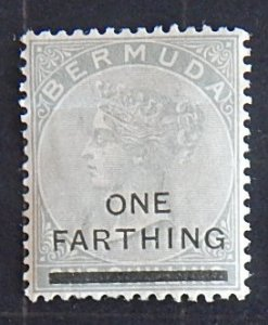 Bermuda, Queen Victoria, 1 farthing on 1 shilling, 1883-1904, SC #26 A9