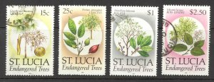 St. Lucia Sc# 954-962 Used 1990 Trees in Danger of Extinction