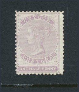 CEYLON 1864, ½d PERF 12½, VF MLH SG#18 CAT£225 (SEE BELOW)
