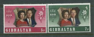 Gibraltar - Scott 292-293 - Silver Wedding -1972 - MNH - Set of 2 Stamps