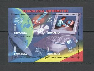 RM012 2004 ROMANIA SPACE UPU TECHNOLOGY #5789-92 MICHEL 5,5 EURO KB MNH