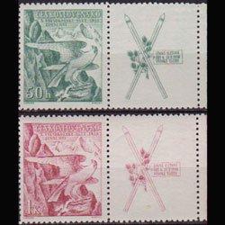CZECH. 1938 - Scott# 241-2 Sokol Games w/Lab. Set of 2 LH