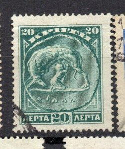 Crete 1905 Early Issue Fine Used 20l. NW-14363