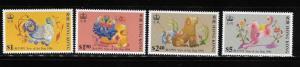 Hong Kong 1994 Year of Dog Sc 689-692 MNH A803