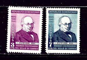 Dominican Republic 356-57 MH 1940 Sir Rowland Hill