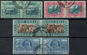 SOUTH AFRICA 1938 VOORTREKKER SET PAIRS USED