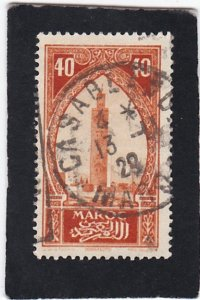 French Morocco  #  102   used