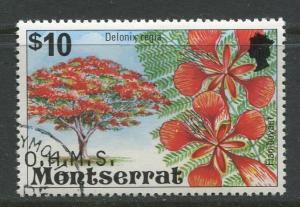 Montserrat - Scott O44 - Overprints Issue - 1980 - CTO -Single $10.00c Stamp