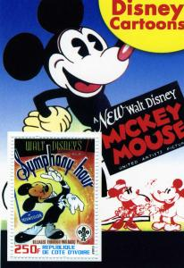 DISNEY Mickey Mouse s/s Perforated Mint (NH)