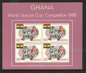 Ghana 1966 World Football Championships sheetlet sgMS434 cv£24 (1v) UM Stamps