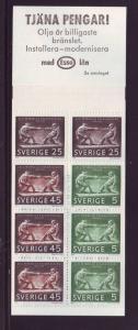 Sweden Sc 798a 1968 Petersson stamp bklt of 8  mint NH