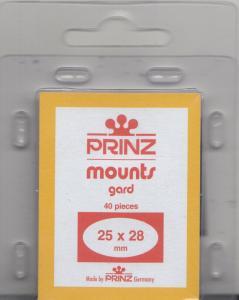 PRINZ BLACK MOUNTS 25X28 (40) RETAIL PRICE $3.99